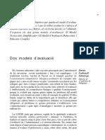 Jaume Carbonell_models Tecnocratic i Democratic d'Avaluacio