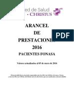 Arancel Pacientes Fonasa 05-01-2016