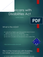 americans with disabilities act project
