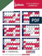 2018 Cardinal Schedule