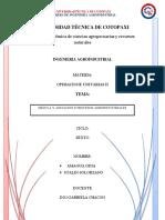 Agitación y Mezclado en Procesos Agroindustriales Ensayo Amagua