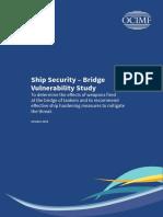 Ship Security Bridge Vulnerability Study