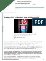Student Ideas for Aviation Wow NASA Audience _ NASA