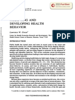 Modifying and Developing Health Behavior