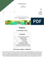 Religión - Enciclopedia Católica