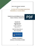 marketing - COMPARATIVE STUDY OF CUSTOMERS PERCEPTION FOR HONDA &  YAMAHA BIKES.docx