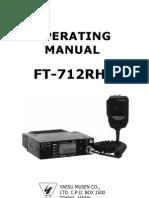 Yaesu FT-712RH Operating Manual