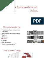 High Rate Nanomanufacturing