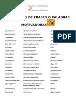 Banco de Frases o Palabras Motivadoras[1574]