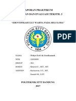 Laporan Evaluasi Tekstil 2 - Identifikasi Zat Warna Pada Selulosa