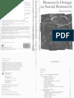 Research Design in Social Research D. De Vaus