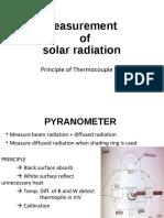 Measurement of Solar-radiation