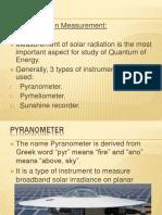 Solar Energy Measurement Apparatus