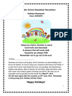 Holiday homework class nursery