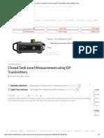 Closed Tank Level Measurement Using DP Transmitters Instrumentation Tools