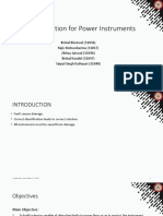 Fault Detection for Power Instruments Proposal