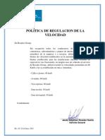 Politica de Regulacion de Velocidad 2016 Rev 01