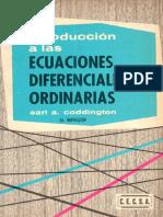 Introducción a Las Ecuaciones Diferenciales Ordinarias 2a Ed. - Earl a. Coddington [CECSA]