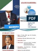 Anand Mahindra Biography Finallllll