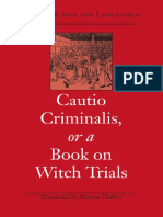 (Studies in Early Modern German History) Friedrich Spee, Marcus Hellyer, Marcus Hellyer-Cautio Criminalis, or a Book on Witch Trials-University of Virginia Press (2003).pdf
