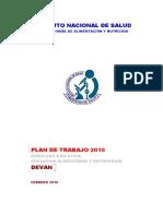 Plan de Trabajo de Lad Evan 10052010