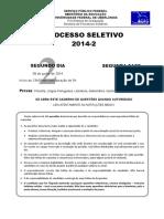Prova Português Segunda Fase UFU 2014