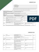 Lesson Plan Sheet - Health Problems