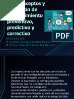 2.3. Conceptos y aplicación de mantenimiento preventivo, predictivo y correctivo