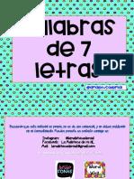 Deletreo 7 Letras