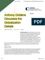 2 Giddens Globalization Discuss 2005