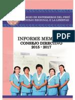 MEMORIA INSTITUCIONAL CEP LA LIBERTAD 2015 - 2017