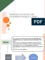 Sistema Nacional de Inversión Publica Snip