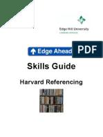 Harvard Referencing, Skills Guide
