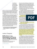 Authors Response - Commentary on Examining Practical, Everyday Theory Use in Design Research