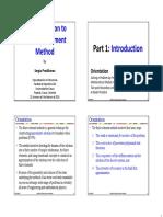 Introducción Al Método de Los Elementos Finitos - (Part 1) Introduction (Sergio Preidikman) - UNICAUCA 01.24.2018 [Handouts]