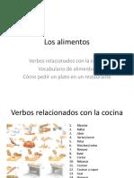Verbos de Cocina Vocabulario de Alimentos Pedir en Un Resto