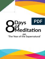 8 Days of Meditation 2018