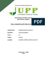 Monografía Administración Pública