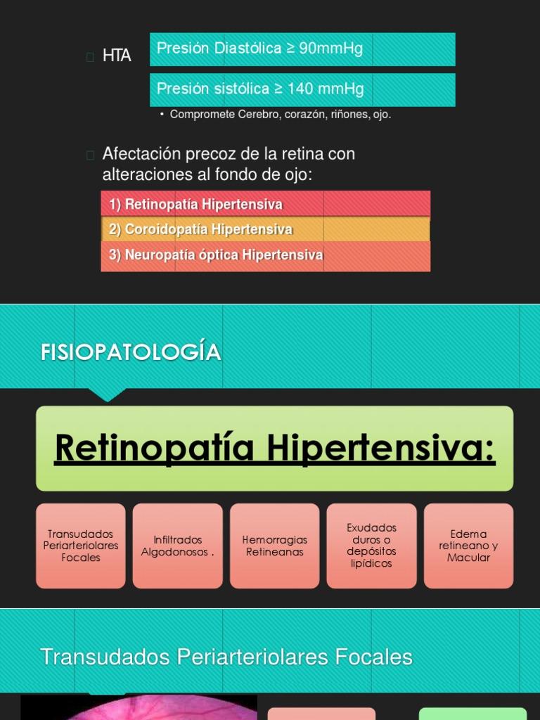 Complicaciones de la retinopatía hipertensiva