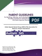 ASIG Parent Guidelines