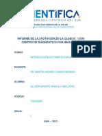 Informe de La I Rotación CDI) Centro de Diagnóstico Por Imágenes