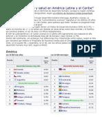 Desarrollo Humano y Salud en América Latina y El Carib1