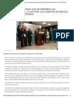 20-02-18  Legisladores evitarán que se empañen las negociaciones del TLCAN por los comicios en México, anuncia Víctor Giorgana