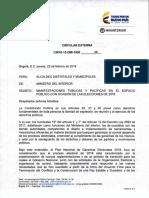 MANIFESTACIONES PÚBLICAS Y PACÍFICAS EN EL ESPACIO PÚBLICO CON OCASIÓN DE LAS ELECCIONES DE 2018