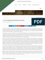 Paridad Andina vs. Dualidad Occidental - Marc Torra