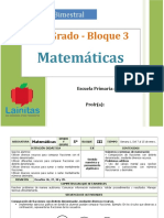 Plan 5to Grado - Bloque 3 Matemáticas