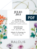 Balclis Julio 2013