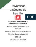 Universidad Autónoma de Fresnill1 Camacho Quimica