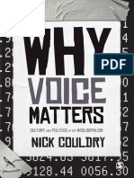 Why Voice Matters - Nick Couldry