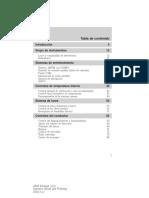 Manual de Propietario ESCAPE 2009